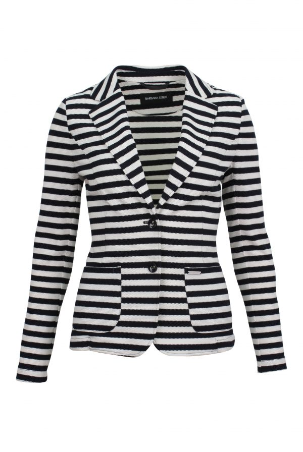 Navy & White Stripe Blazer