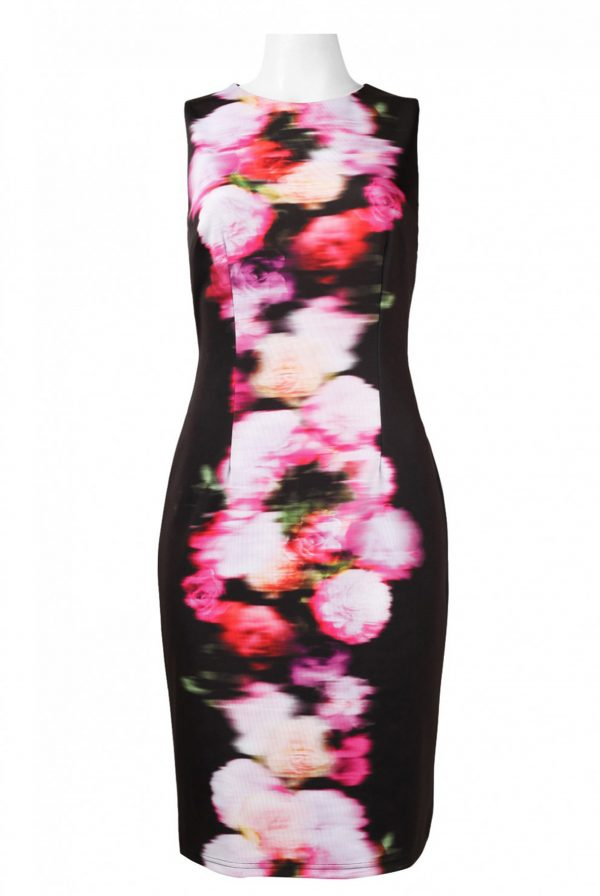 Adrianna Papell Black Dress with Print