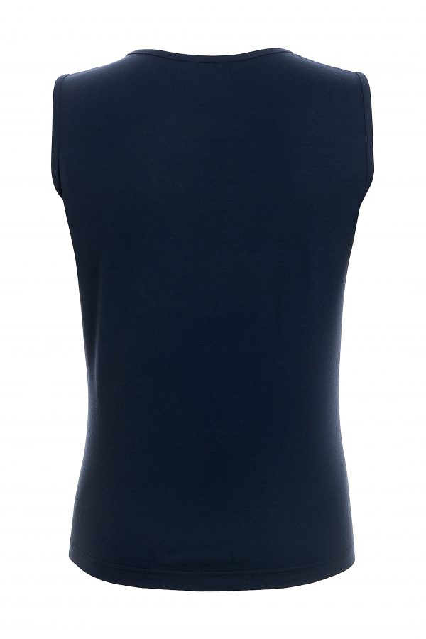 Navy Cami with Lace Detail