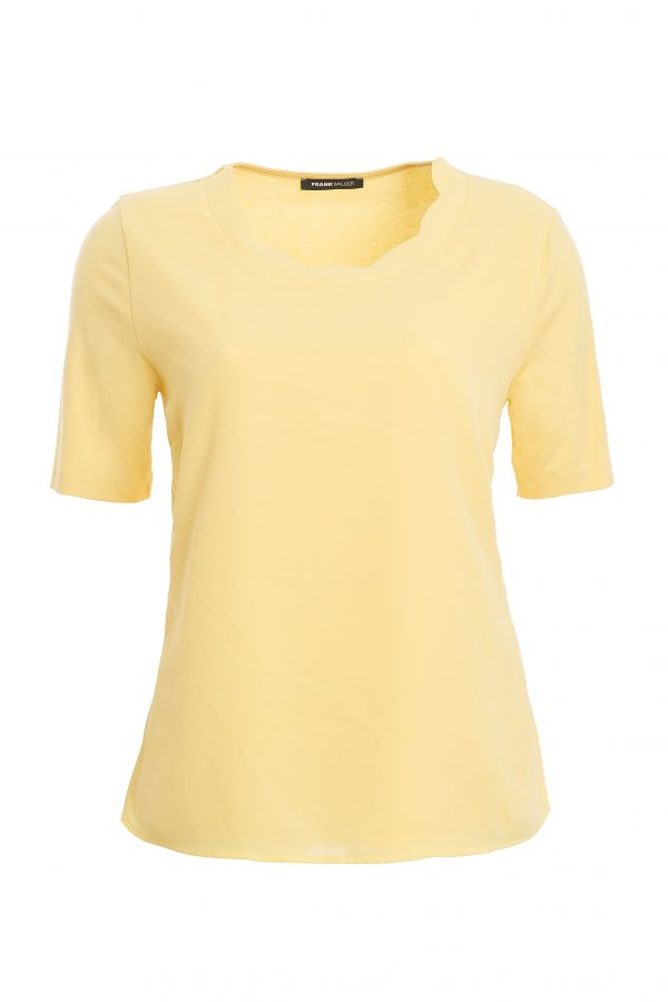 Yellow Blouse with Scallop