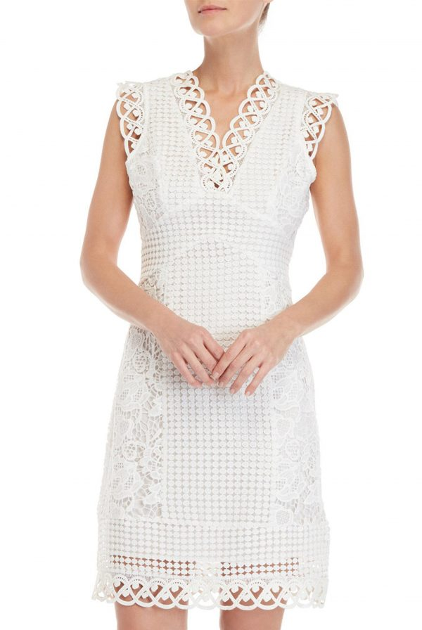 ABS Embroidered Sheath Dress