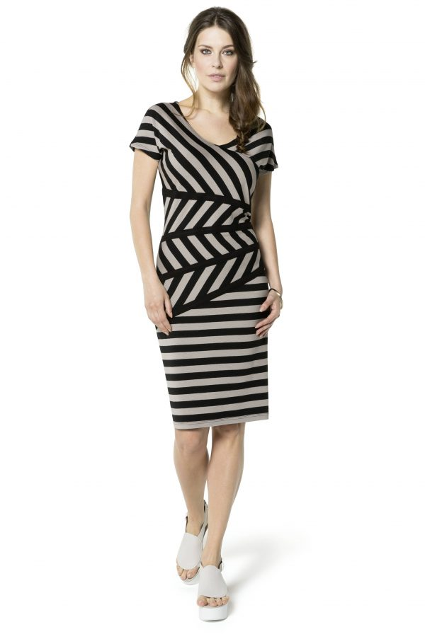 Black & Stone Stripe Dress