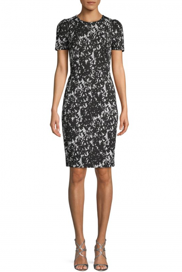 Calvin Klein Two-Tone Sheath Dress