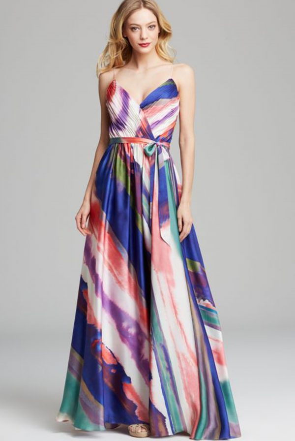 JS Collections Chiffon Printed Gown