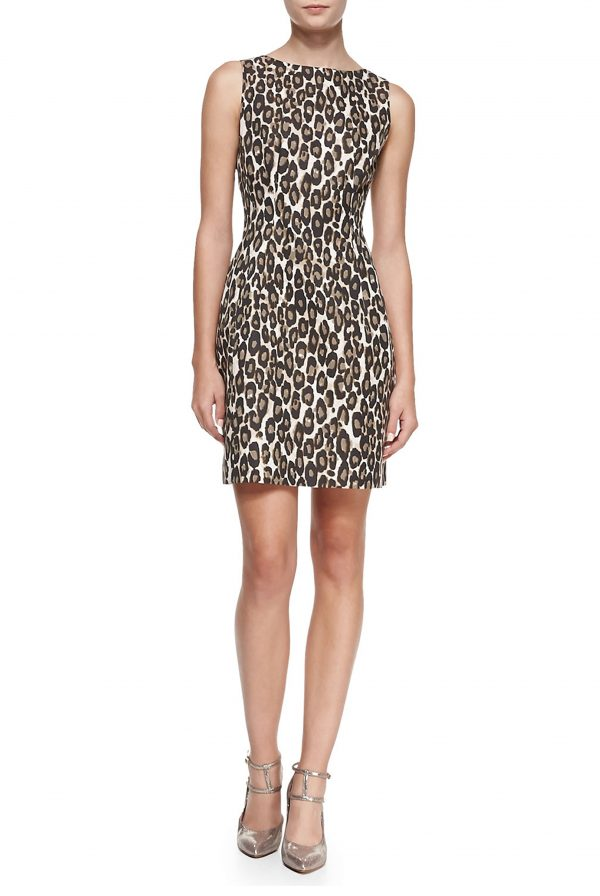 Kate Spade Leopard Domino Sheath Dress