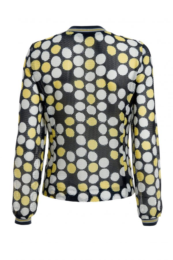 Navy & Yellow Spotted Jacket