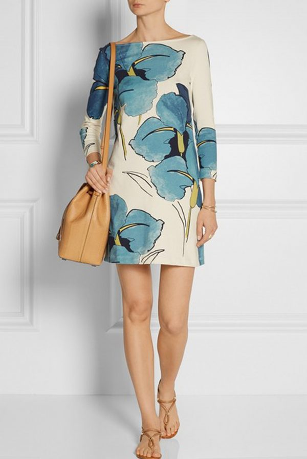 Tory Burch Bonnie Floral Cotton-Jersey Dress