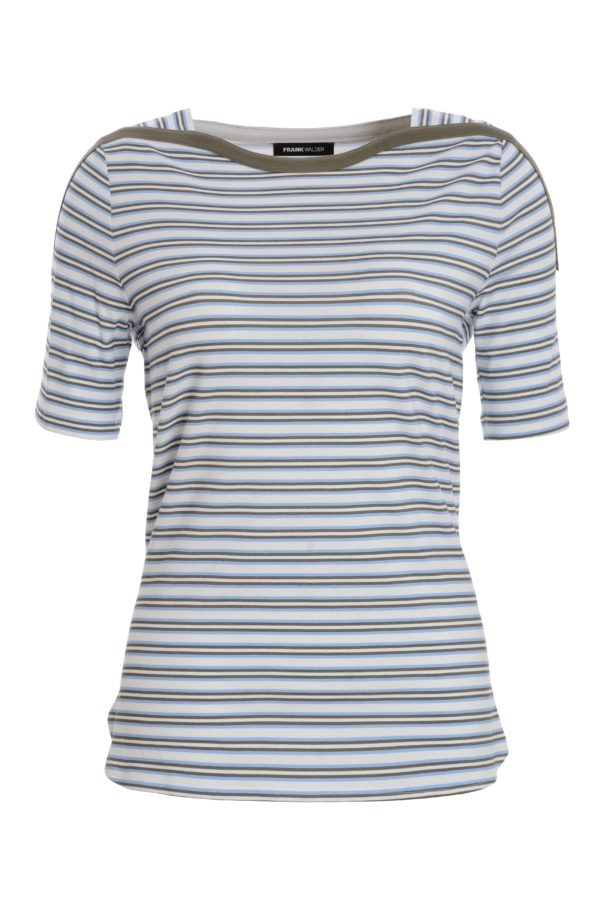 Light Blue Multi Stripe T-Shirt