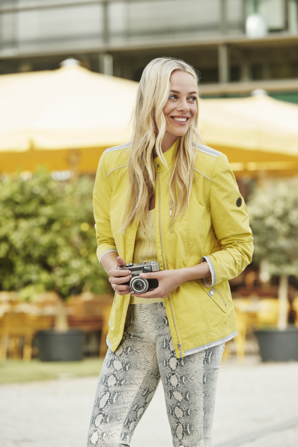 Yellow & Grey Outerwear Jacket